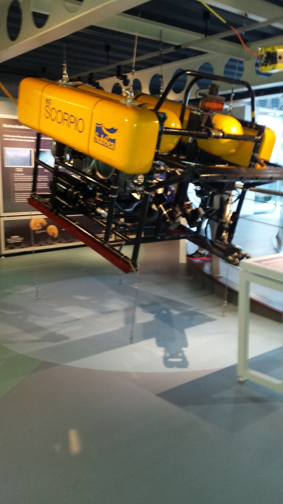 robot diver at maritime museum