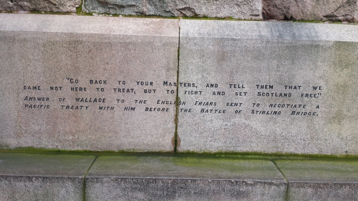 William Wallace inscription 2
