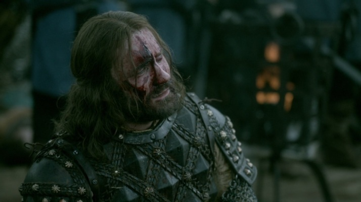 At the end of the battle Rollo is in pain emtionally as well as physically